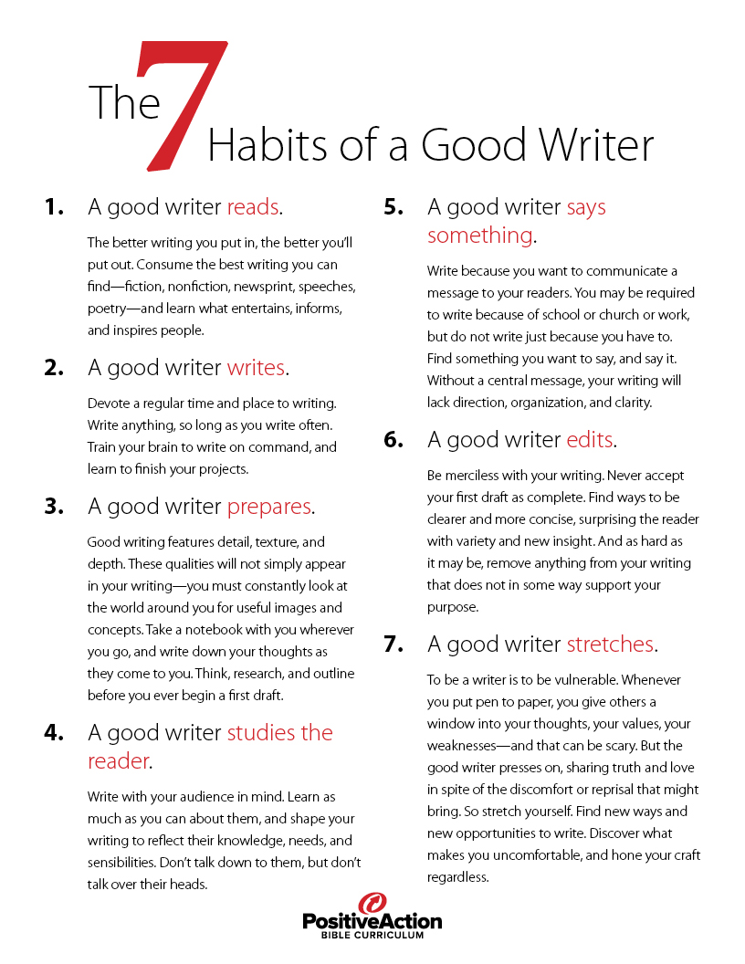 How to become a good writer?